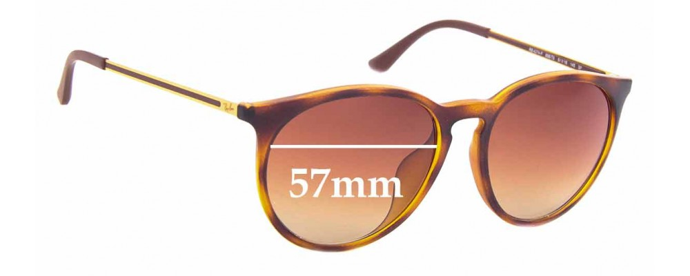 Sunglass Fix Replacement Lenses for Ray Ban RB4274-F - 57mm Wide
