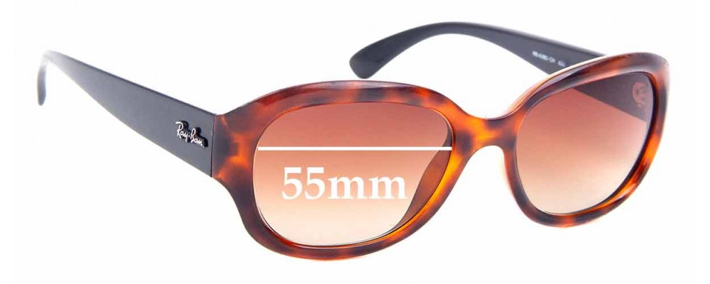 Sunglass Fix Replacement Lenses for Ray Ban RB4282-CH - 55mm Wide