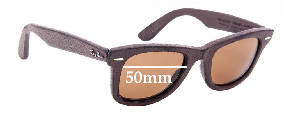 Ray Ban Wayfarer RB2140-Q-M Genuine Leather Replacement Lenses lenses Front View