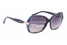 Sunglass Fix New Replacement Lenses for Roberto Cavalli Kochab 876S - 57mm Wide