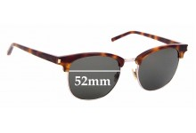 Sunglass Fix Replacement Lenses for Saint Laurent SL 108 - 52mm Wide