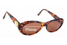Sunglass Fix Replacement Lenses for Simply Stunning Diane - 55mm Wide