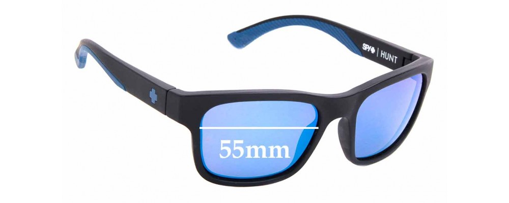 Sunglass Fix Replacement Lenses for Spy Hunt - 55mm Wide