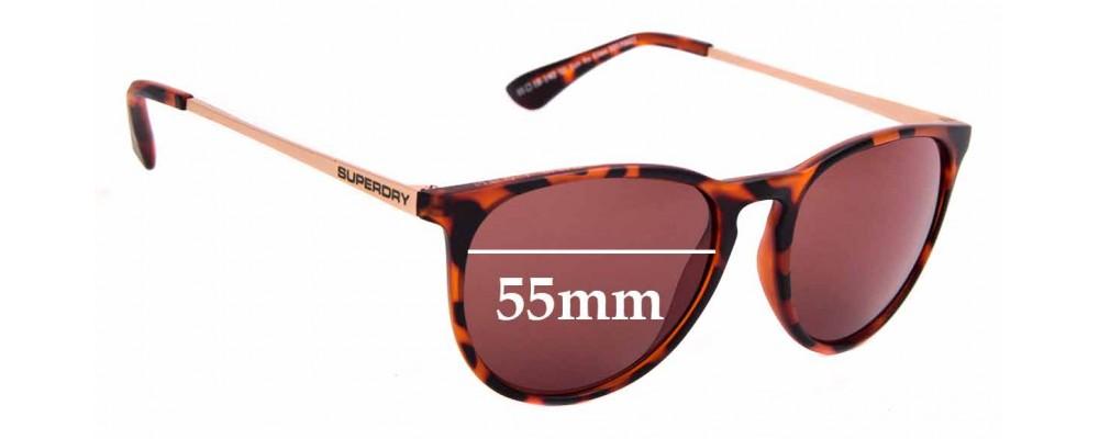Sunglass Fix Replacement Lenses for Superdry SD Sun Rx Ellen - 55mm Wide