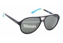 Sunglass Fix New Replacement Lenses for Toms Marco S008 - 58mm Wide