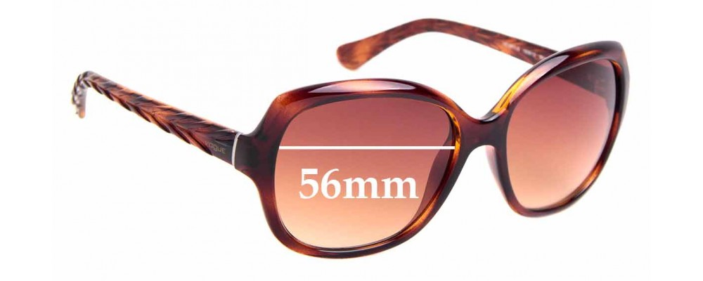 Sunglass Fix Replacement Lenses for Vogue VO 2871-S - 56mm Wide