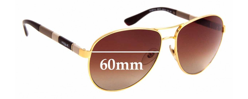 Sunglass Fix Replacement Lenses for Vogue VO 3977-S - 60mm Wide