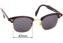 Sunglass Fix Replacement Lenses for American Optics 5 3/4 - 48mm wide
