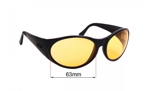 Arnette Hot Cakes Replacement Sunglass Lenses - 63mm Wide