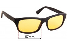 Black Forever BK-620 Replacement Sunglass Lenses - 57mm wide