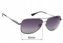 The Cancer Council Australia Coober Pedy Replacement Sunglass Lenses - 60mm wide