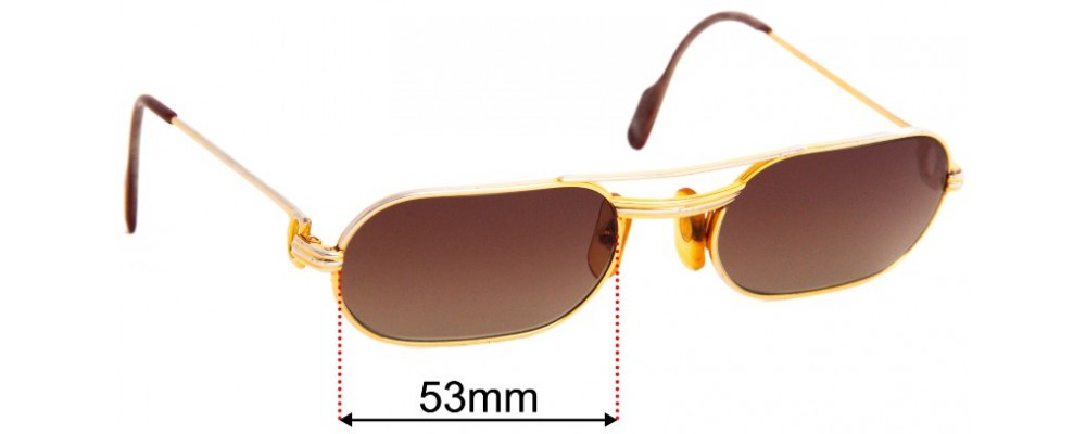 Cartier Must Replacement Sunglass Lenses - 53mm wide
