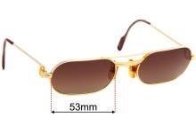 Cartier Must Replacement Sunglass Lenses - 53mm wide