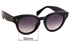 Sunglass Fix Replacement Lenses for Celine CL 41061 F/S - 52mm Wide