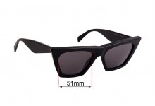 Sunglass Fix Replacement Lenses for Celine CL 41468/S - 51mm Wide