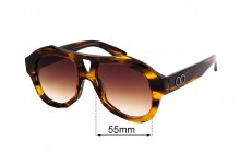 Sunglass Fix Replacement Lenses for Childe Debaser - 55mm wide