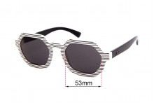 Sunglass Fix Replacement Lenses for Childe Exit - 53mm wide