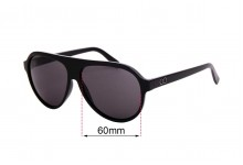 Sunglass Fix Replacement Lenses for Childe Reed - 60mm wide