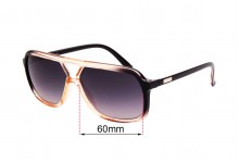 Sunglass Fix Replacement Lenses for Childe Treble - 60mm wide