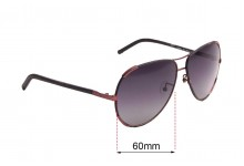 Sunglass Fix Replacement Lenses for Chloe CE 100SL - 60mm wide