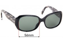 Christian Dior Flanelle3 Replacement Sunglass Lenses - 57mm Wide