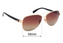 Coach HC7077 Replacement Sunglass Lenses - 58mm wide