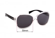 Sunglass Fix Replacement Lenses for Coach HC8088 Selma - 59mm wide