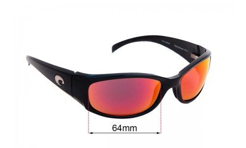 Costa Del Mar Hammerhead Replacement Sunglass Lenses - 64mm wide x 40mm tall