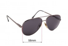 Cottet Vintage Aviator 743 Replacement Sunglass Lenses - 58mm wide