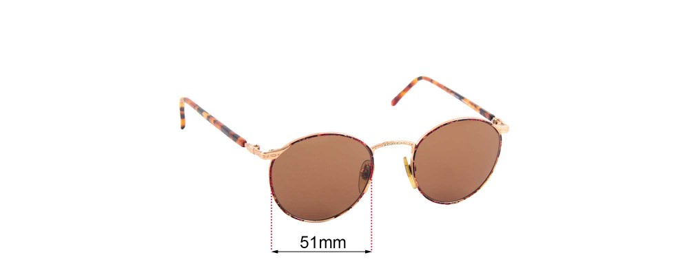 Sunglass Fix Replacement Lenses for Dakota Smith 5002 Steinbeck - 51mm Wide