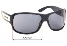 Diesel Unknown Replacement Sunglass Lenses - 66mm wide