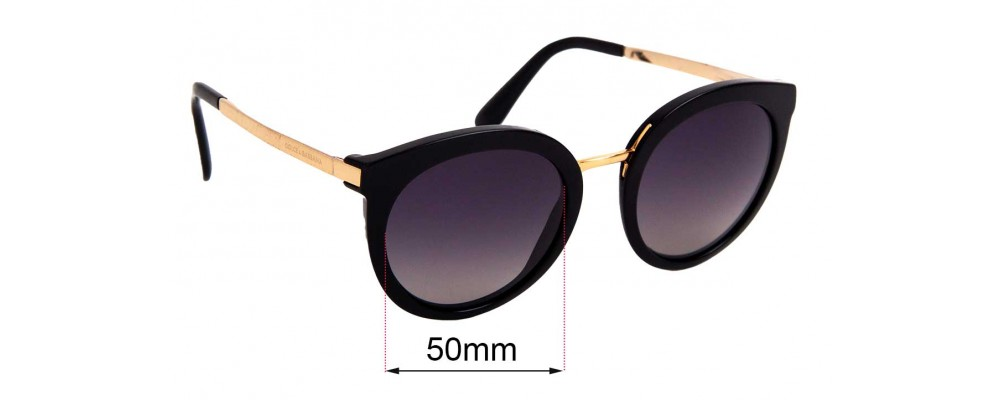 Sunglass Fix Replacement Lenses for Dolce & Gabbana DG4268 - 50mm wide