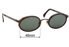 EMPORIO ARMANI 085-S Replacement Sunglass Lenses - 48mm wide