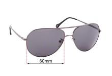 Ermenegildo Zegna SZ 3240 Replacement Sunglass Lenses - 60mm wide