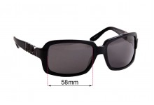 Juicy Couture Fancy/S Replacement Sunglass Lenses - 58mm wide