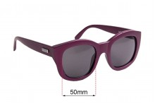 Sunglass Fix Replacement Lenses for Le Specs Runaways - 50mm Wide