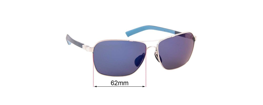 Sunglass Fix Replacement Lenses for Maui Jim MJ326 Freight Trains - 62mm wide