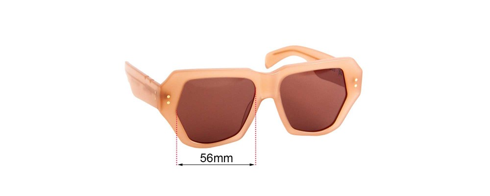Sunglass Fix Replacement Lenses for Pared Bec + Bridge Big Mamma - 56mm wide