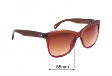 Paul Smith 8153-S Aleister Replacement Sunglass Lenses - 55mm Wide
