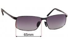 Porsche P'8541 Replacement Sunglass Lenses - 65mm wide