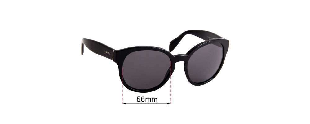 Prada SPR18R Replacement Sunglass Lenses - 56mm wide
