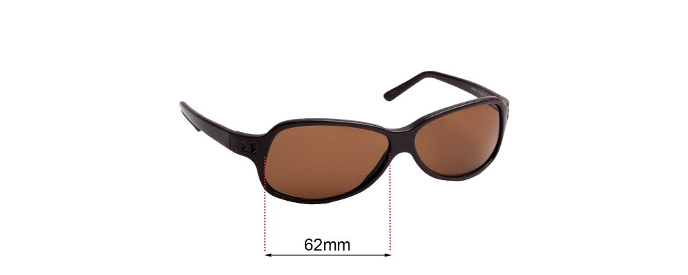 Sunglass Fix Replacement Lenses for Prada SPR26A - 62mm across