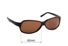 Sunglass Fix Replacement Lenses for Prada SPR26A - 62mm across