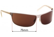 Prada SPR53C Replacement Sunglass Lenses - 75mm Wide