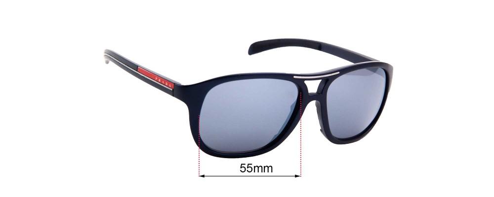 Sunglass Fix Replacement Lenses for Prada SPR 061 - 55mm Wide