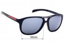 Sunglass Fix Replacement Lenses for Prada SPR 061 - 55mm Wide