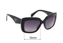 Sunglass Fix Replacement Lenses for Prada SPR03Q-A - 55mm wide
