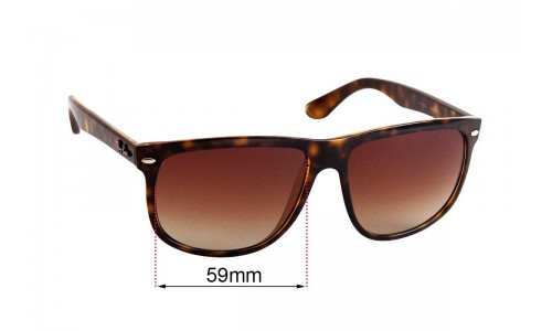 Sunglass Fix Replacement Lenses for Ray Ban RAJ4935AA - 59mm wide