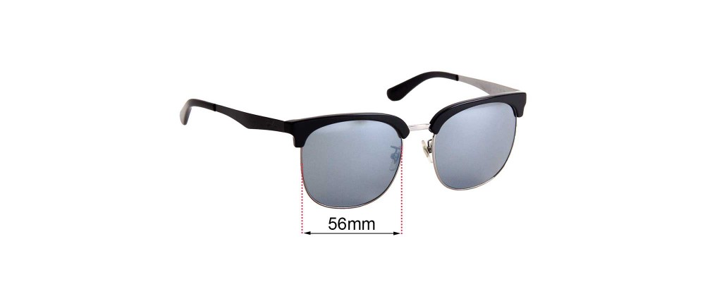 Ray Ban RB3565D Replacement Sunglass Lenses 56mm Wide Lenses