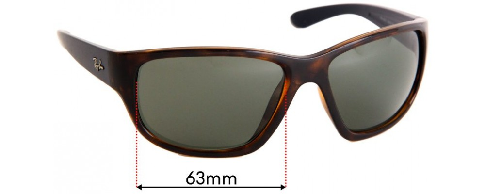 Ray Ban RB4300 Replacement Sunglass Lenses - 63mm Wide